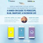Event Alert: New & Awesome Social Media Platforms for Marketers – A Talino Talks Workshop by Freelancer.com and Manila Workshops