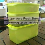 Review: Store More, Waste Less with Tupperware Fresh Staks (and a Giveaway!)
