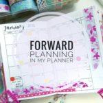 Forward Planning in My Planner